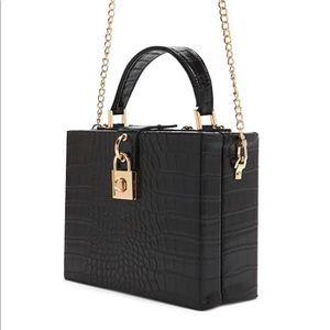 Black square bag